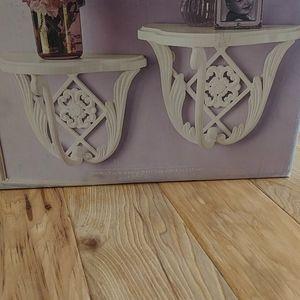2 Vintage Romance cast iron shelves NIB